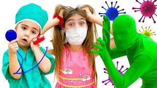 Настя Артем и Мия показывают что нужно делать чтобы не заболеть. Правила поведения для детей