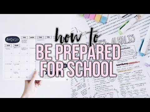 How To Prepare For A New Semester/School Year! | Reese Regan