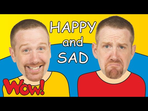 Happy And Sad For Kids | Steve And Maggie | Kids TV | English For Children