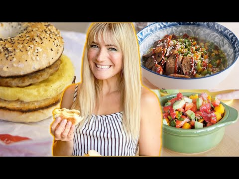 WHAT I EAT IN A DAY VEGAN   Trying the NEW JUST Egg Breakfast Sandwich   The Edgy Veg