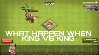 CLASH OF CLANS BARBARIAN KING VS KING