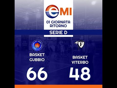 Gubbio-Viterbo 66-48  -  Basket Serie D  -  12 GENNAIO 2020