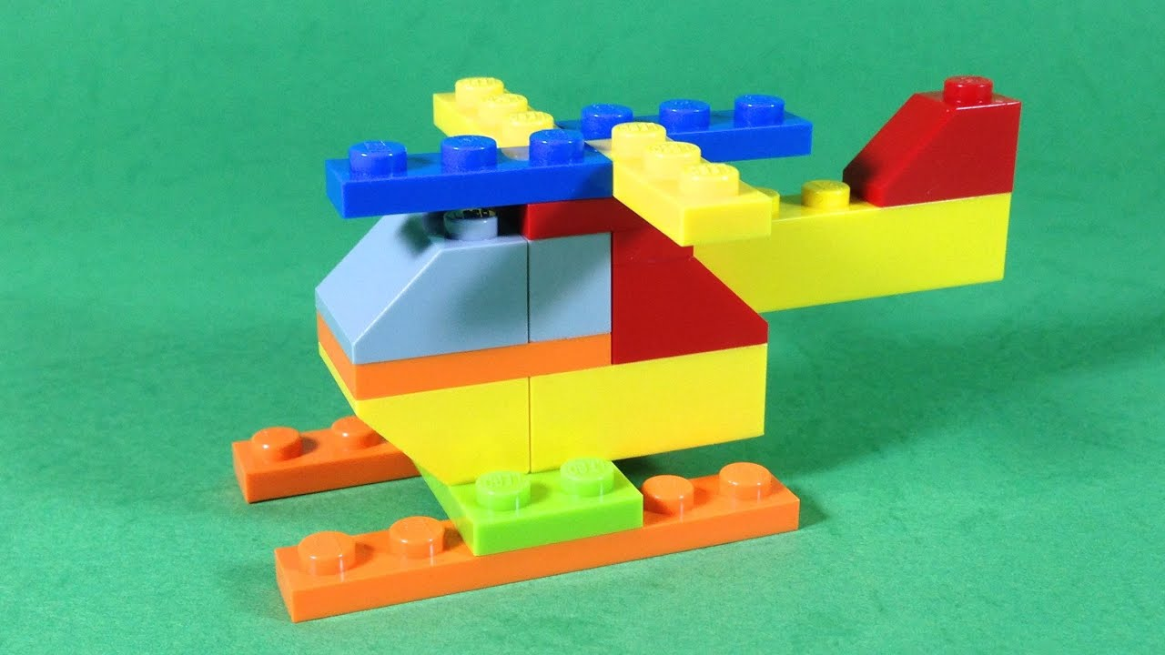 How To Build A Lego Helicopter Youtube