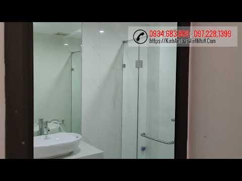 Phòng tắm kính - Lắp đặt cửa kính cường lực, phòng tắm kính, kính ốp bếp tại Đông Tác