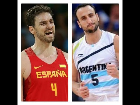 Argentina vs. Spain Olympic Basketball FULL Highlights