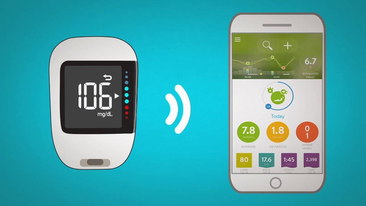 en la aplicación sync diabetes manager