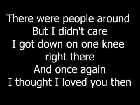 Brad Paisley  Then Lyrics On Screen