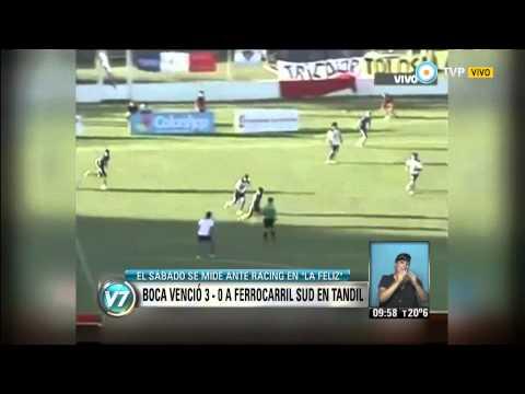 Visión 7 - Boca venció 3 a 0 a Ferrocarril Sud en Tandil