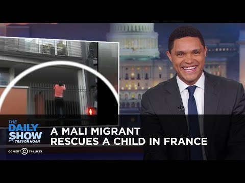 A Mali Migrant Rescues a Child in France   The Daily Show