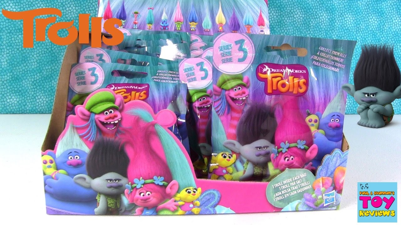 Trolls Series 3 Blind Bag Figures Opening Unboxing Full