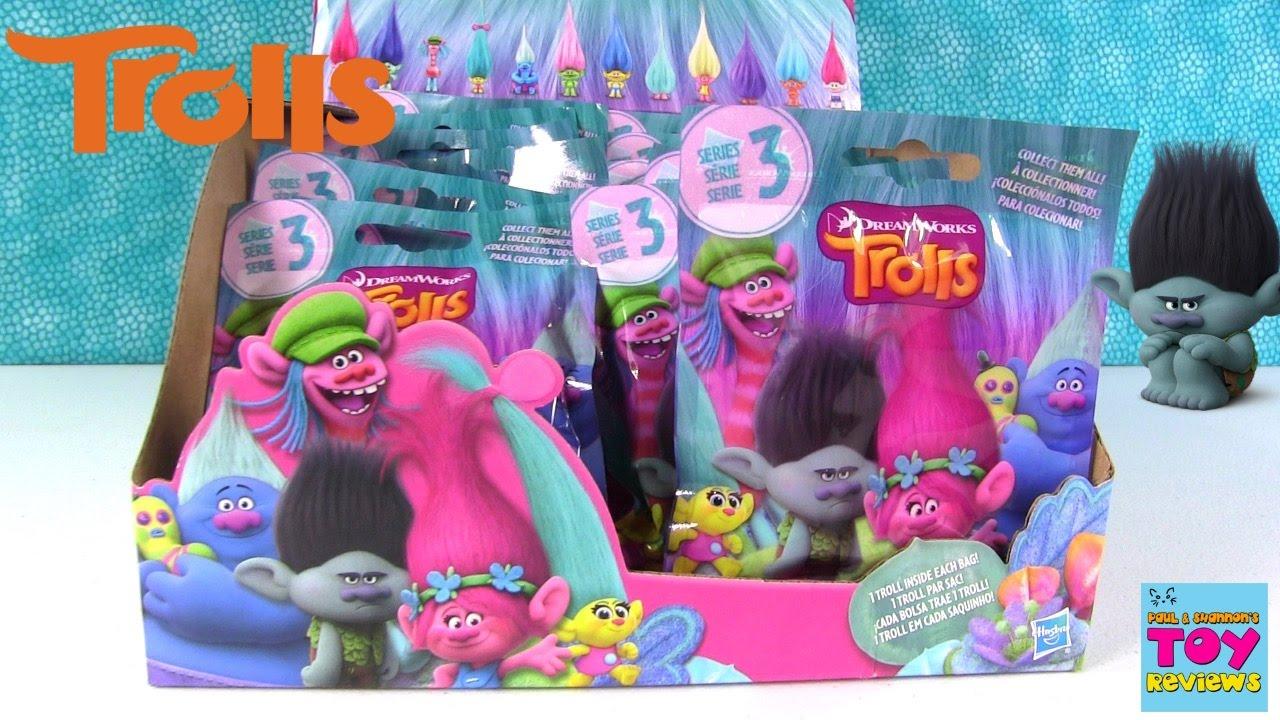 Trolls Series 3 Blind Bag Figures Opening Unboxing Full