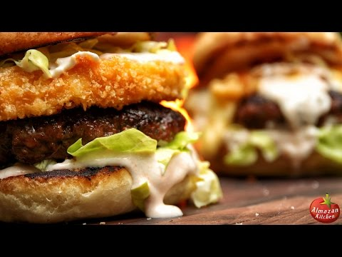 Ultimate Fried Cheese Burger! - King of Burgers 2000 CAL!