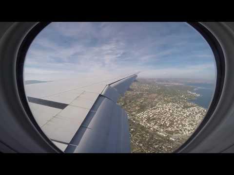 Emirates Boeing 777-300ER Descent & Landing | Flight EK107 | Larnaca - Athens | GoPro Wing View