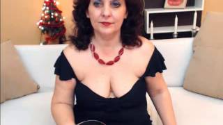 Candid Webcam Mature Old Woman Showing Feet in Black Nylons