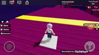 Playing Roblox with my friend Stephanie Oba! (spped run 4) Part 1