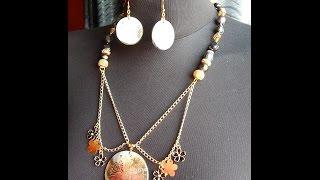 Моделирование ожерелий,урок №4 ,колье-воротник из цепи