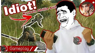Kocak, Nyobain Ghillie Suit - Rules of Survival mobile