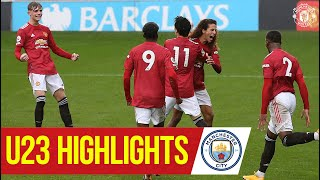 U23 Highlights | Manchester United 2-2 Manchester City | The Academy