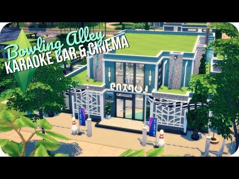 BOWLING ALLEY, KARAOKE BAR & CINEMA ALL-IN-ONE 🎳 | Sims 4 Building Newcrest #5