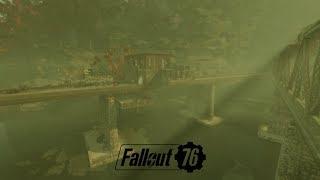 Fallout 76 crazy railroad bridge CAMP !!!  (tour and location)