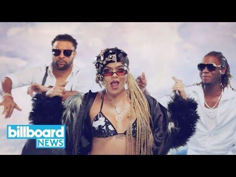 Karol G & Shaggy's Video for 'Tu Pum Pum' Is Bursting With Color   Billboard News