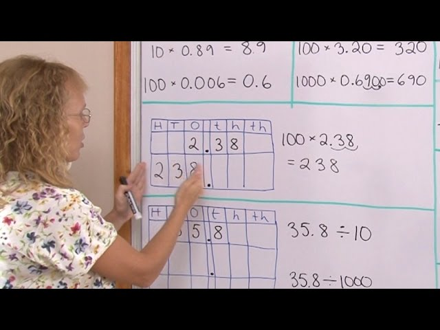 Multiply And Divide Decimals By 10 100