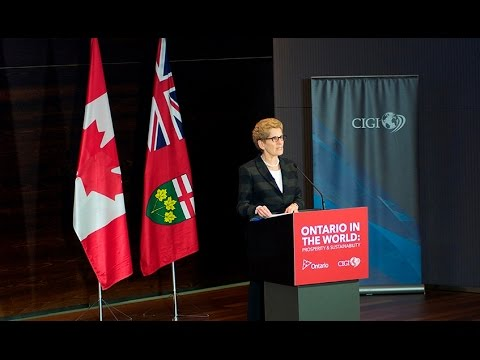 Ontario in the World: Prosperity and Sustainability