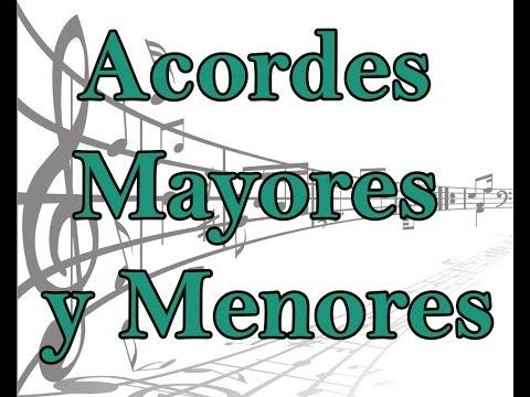 Lecciones de musica gratis, Formacion de Acordes mayores y menores, Curso de piano