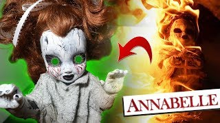 BURNED ANNABELLE DOLL TURNS INTO ZOMBIE AT 3 AM!! *SHE CAME BACK TO LIFE*