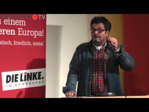 Diether Dehm mit Yanis Varoufakis: Die Gemeinsamkeit gegen Rechts stärken!