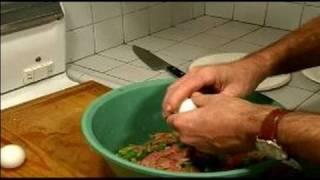 How To Make A Cajun Stuffed Log : Mixing Pepper & Eggs For The Cajun Log Recipe