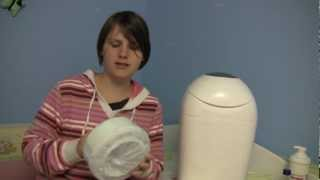 Tommee Tippee Sangenic Liner  Nappy Wrapper Refills - baby chainging Review video - ReviewGear