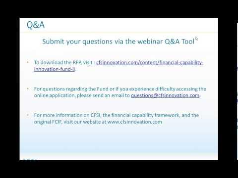 #Webinar: #FinancialCapability Innovation Fund II  Bidders Call