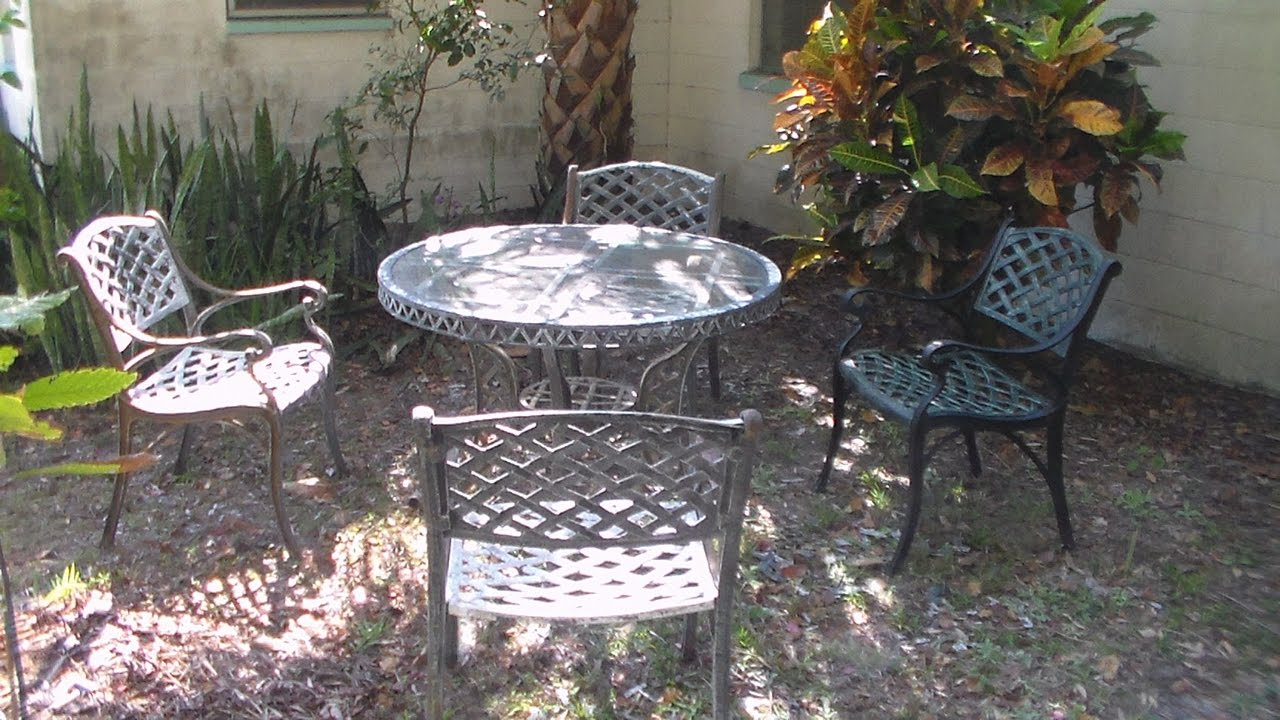 Antiquing cast metal furniture youtube
