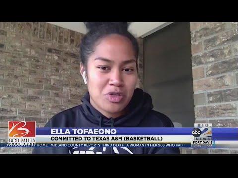 Midland College's Ella Tofaeono signs with Texas A&M