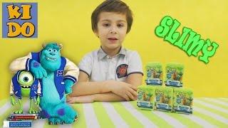 Необычные сюрпризы в коробочках со слизью Slimy Monsters University Figurines Университет Монстров