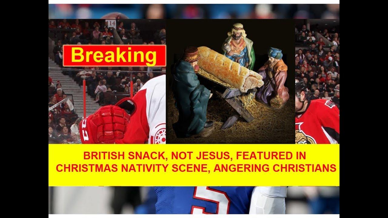 BRITISH SNACK, NOT JESUS, FEATURED IN CHRISTMAS NATIVITY SCENE ...