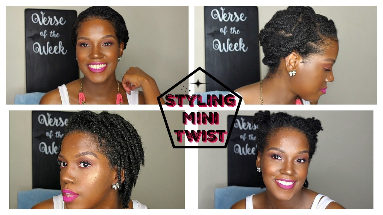 How To Style Mini Twist Short Natural Hair 4c Hair Youtube