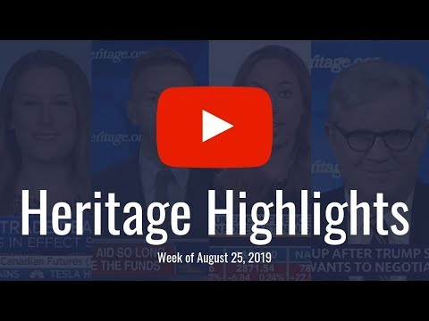 Heritage Highlights: China Trade, Debt, Amazon Fires, Climate Change
