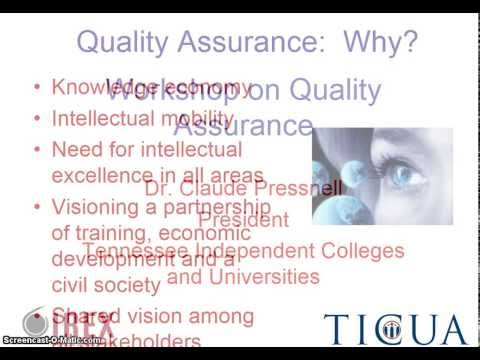 IREX Workshop On Quality Assurance