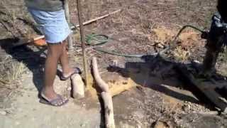 Organic Farming in the Philippines: Fishtank Construction: Iraan, Aborlan-Palawan