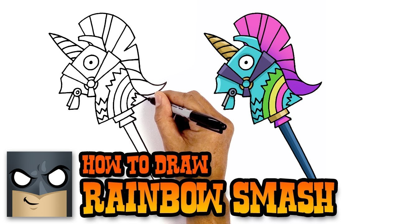 How To Draw A Pickaxe From Fortnite How To Draw Fortnite Weapons Bitemark Pickaxe Youtube