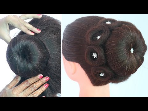 new traditional bun hairstyle for all festival | beautiful hairstyle | indian hairstyle | hairstyle thumbnail