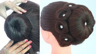 new traditional bun hairstyle for all festival | beautiful hairstyle | indian hairstyle | hairstyle