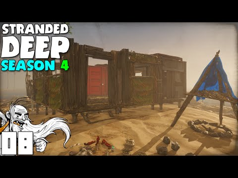 """""""THE BEACH FORTRESS IS TAKING SHAPE!!!""""  Stranded Deep S04 Part 8 - 1080p PC Gameplay"""