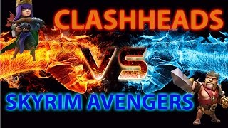 Clash Of Clans Hunted - CLASHHEADS VS SKYRIM AVENGERS Behind the scenes + how to 3 star war replays