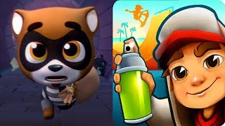 Subway Surfers vs Talking Tom Gold Run -  World Tour Gameplay 2018