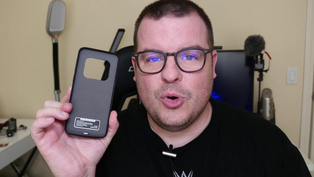more photos 63cd7 8ccba CASESSARY Galaxy S9 Battery Case 4700mAh - YouTube