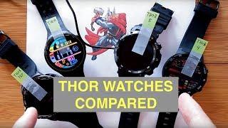 ZEBLAZE THOR Family of Smartwatches Compared: Original, THOR S, THOR PRO, THOR 4