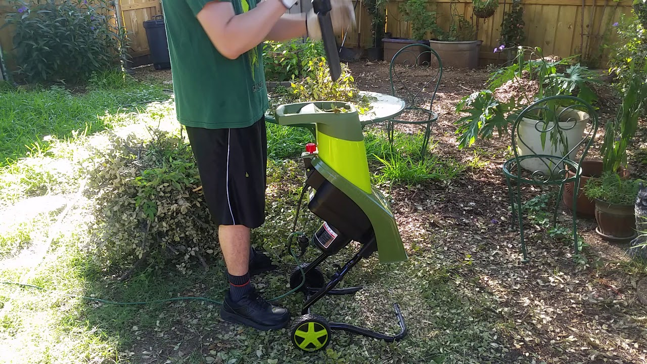 Electric Wood Shredder as well as Chipper by Snow Joe